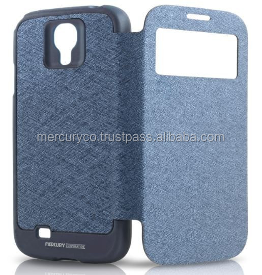 PU leather phone case Mercury Wow bumper leather phone case (Navy)