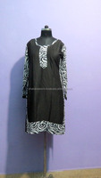 ladies clothes women colored fabric cotton kurti