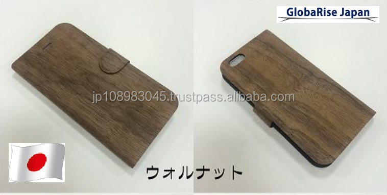 Wooden Phone case skins for iPhone 6, accessories for iPhone made in Japan