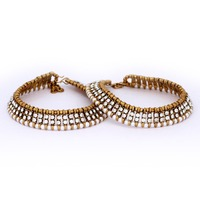 Wholesale Awesome Design Silver Beads Anklets