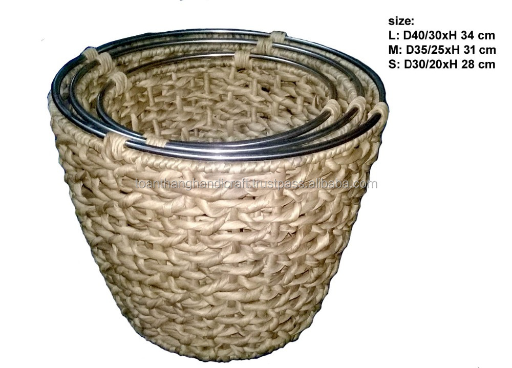 Nice shape, Eco-friendly water hyacinth basket ( Skype: hangleknn_1)