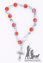 Red Crystal Christian BRAcelets For Women West Bank Holy Land - BRA011 ZULUF