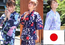 Comfortable and Pretty cotton or synthetic fabric Ladies' JINBEI with selected texture