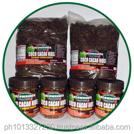 Bulk Packaging COCONUT CACAO NIBS - Chocolate Confectionary, Low Glycemic Index, 100% Natural & Functional Food
