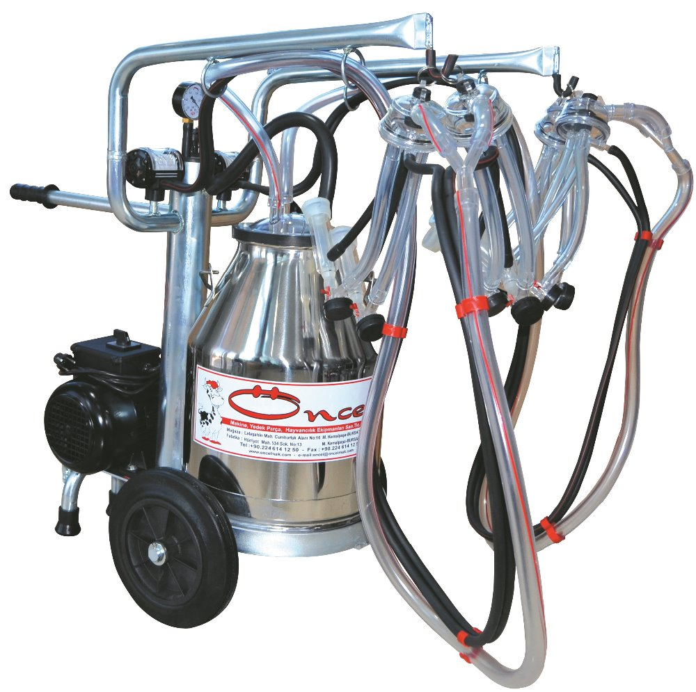 MILKING MACHINE-FOR SHEEP MILKING-PORTABLE-4 MILKING UNITS-ECO MODEL-SINGLE SS BUCKET-OC.1013-1