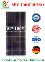 SPV 100w Monocrystalline Solar Panel with tempered glass for grid system certificated by ISO