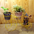wrought Iron Cycle 3 Pot Holder Yellow