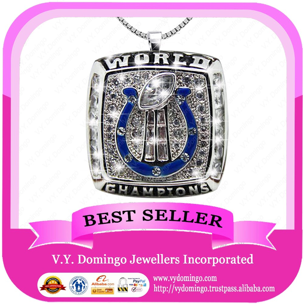HOT SALE BALL FANS JEWELRY 2007 Indianapolis Colts pendant custom letters