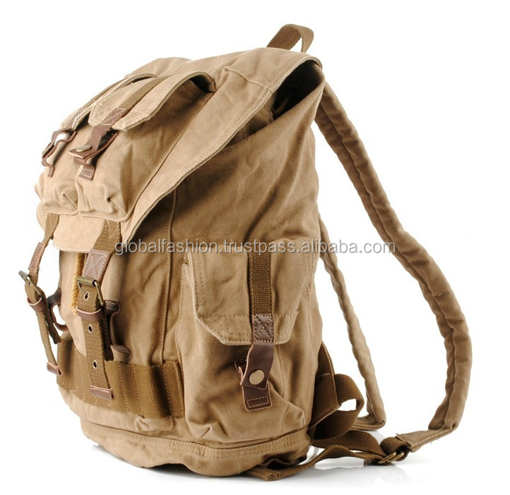 2017 OEM custom design canvas backpack for men