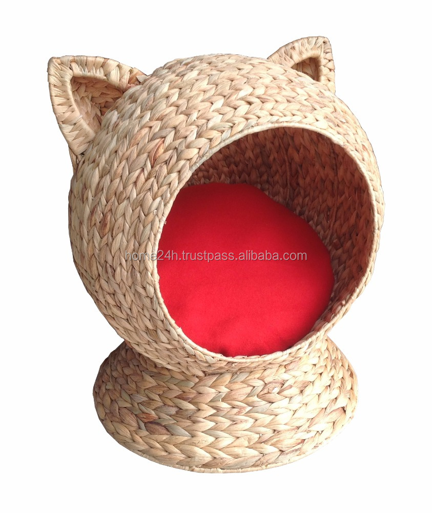 Handmade Home basket Vietnam crafts HOT PRODUCTS -Water hyacinth beautyful Cat house, Cat pet, Dog House & Dog Bed.