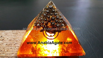 Orgone Pyramid With Silver Pearl's : Wholesale Spiritual Orgone Products