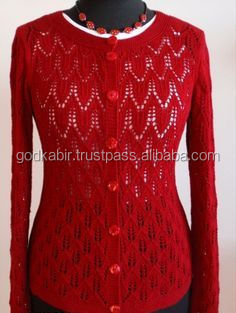 Royal recent made new modern design antique/classy/quality base red color Handmade sweaters for women - Where to buy 2015 sale.