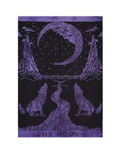 Indian Sun Moon Cotton Tapestry