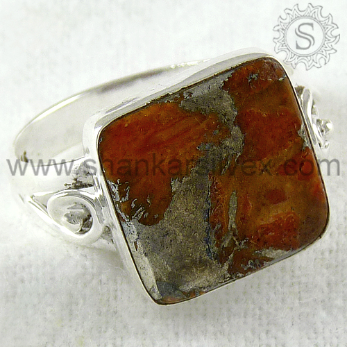 Wholesale Silver Brown Copper Turquoise Ring, Wholesaler Silver, 925 Sterling Silver Ring