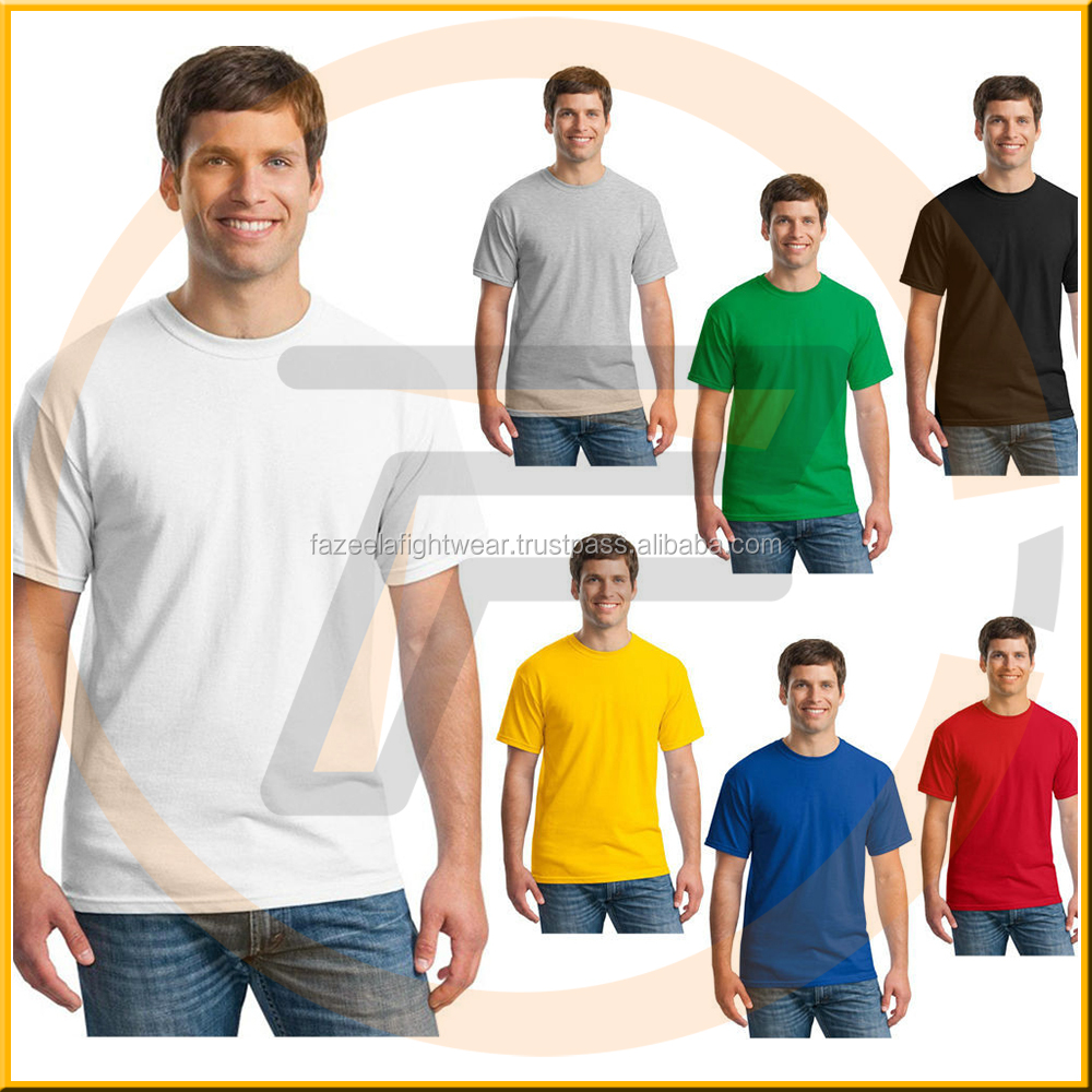 Manufacturer Custom Orders 50 Cotton 50 Polyester T shirt With Front Print
