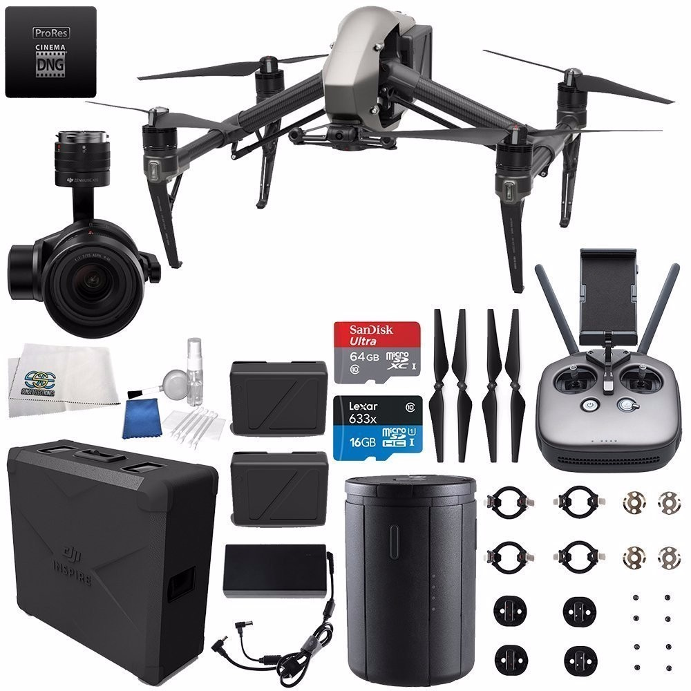 DJI Inspire 2 Premium Combo with Zenmuse X5S and CinemaDNG and Apple ProRes Licenses Starters Bundle