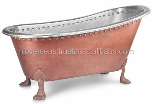 Handmade Pure Solid Free standing Claw Foot Bath Tub