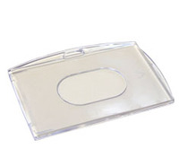 Plastic case, card holder - higly transparent, polycarbonate PC