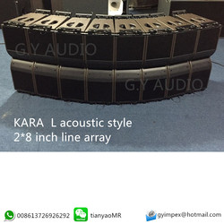 KARA L acoustic style Pro audio 2 way mini line array/dual 8 inch line array speaker