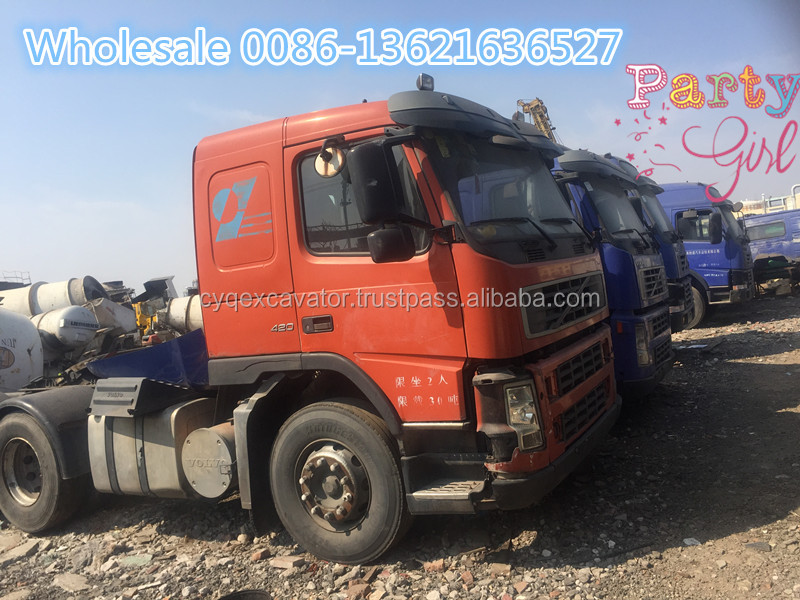 Used HINO tractor,used volvo FM12 tractor for sale,used truck head cheaper price 0086-13621636527