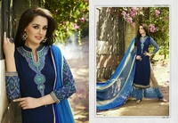 UNSTITCHED SALWAR KAMEEZ WITH PLAZZO PANTS FOR WOMENS IN WHOLESALE