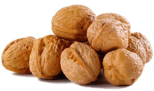 Walnuts are light brown in colour.