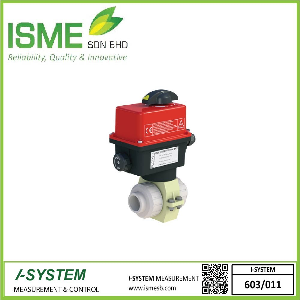 VE2V S4-PVDF, Electrically actuated 2-way ball valves