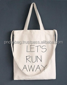 Promotional gift shopper bag canvas cotton shopping bag tote bag