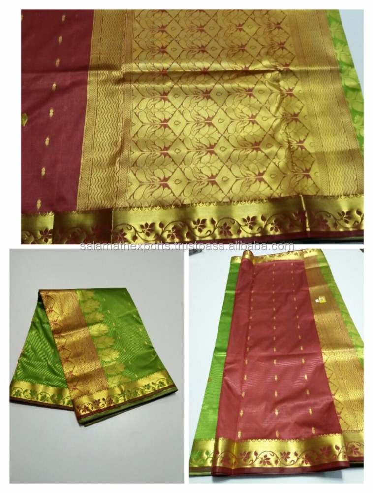Parrot Green low range banarasi silk saree