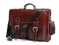 Custom Made Leather Laptop Bags / 15.3 inch laptop computer bags / leather laptop bags for businessman