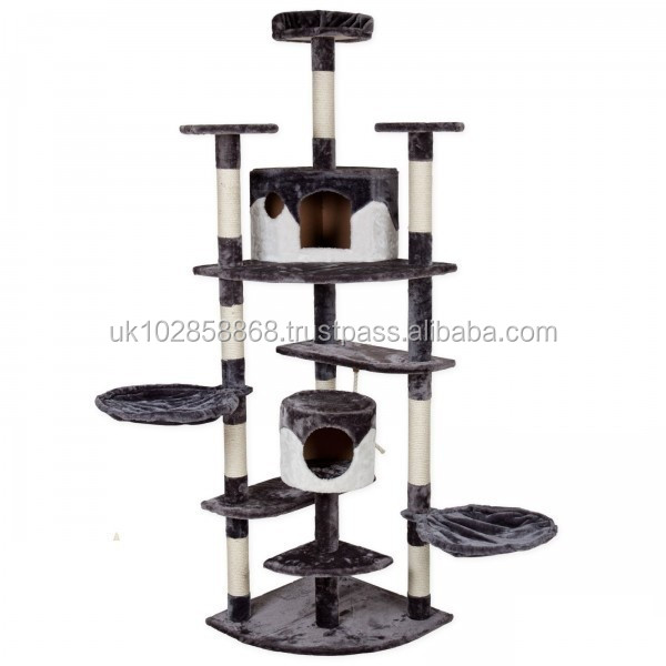 Popular European type Large Cat scratching tree cat house cat toy,sell in Germany