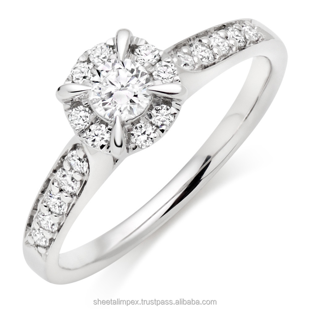 Certified 0.75 Tcw Round Cut Diamonds SI1 Clarity 18Kt White Gold Anniversary Ring At Best Price
