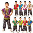 Childs Enfants Traditionnelle Africaine Dashiki Tribal Festival Hippie Shirt Top Traditionnelle-Enfants-Dashiki-Boho-Robe-Blouse S M L TAILLE