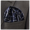 Blue Checked Pocket Square, Production, Manufacturing, custom, Hankercheif,