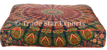 Indian Mandala Dog Bed Cover Decorative Pet Bed Cushion Cover Square Pillow Sham