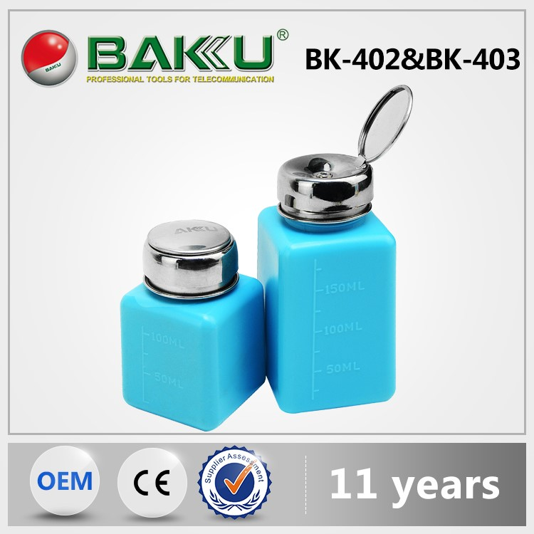 BAKU BK-403 Anti-static glass pump bottle for alcohol and dispenser