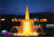 Musical Outdoor Water Fountain with Digital Control, LED light Garden Water Fountain Waterfall