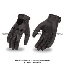 Men's/Women's Light Weight Unlined Classic Driving Glove with Perforated Fingers and Adjustable Wrist Strap