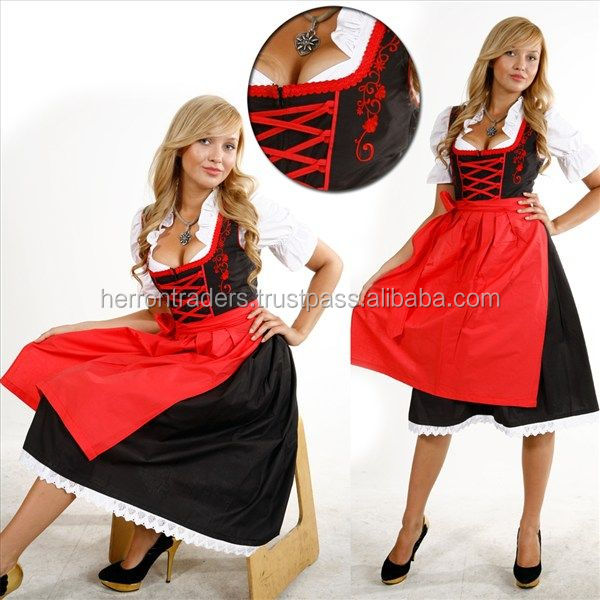 NEW STYLE OF GERMAN BAVARIAN DIRNDL DRESS / OKTOBERFEST BAVARIAN WOMEN DIRNDL / AUSTRIAN DIRNDL DRESS FOR FESTIVAT