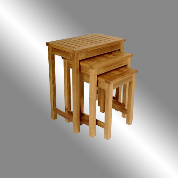 Nestling End Table Slatted Top - Malang Design