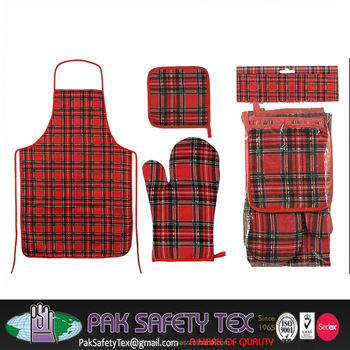 Masterclass Double Oven Glove (Kitchenware & Homeware Articles)/Kitchen & BBQ Set Apron/Oven Mitten/pot holder