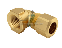 Brass Compression 90 Degree Female Elbow Connector