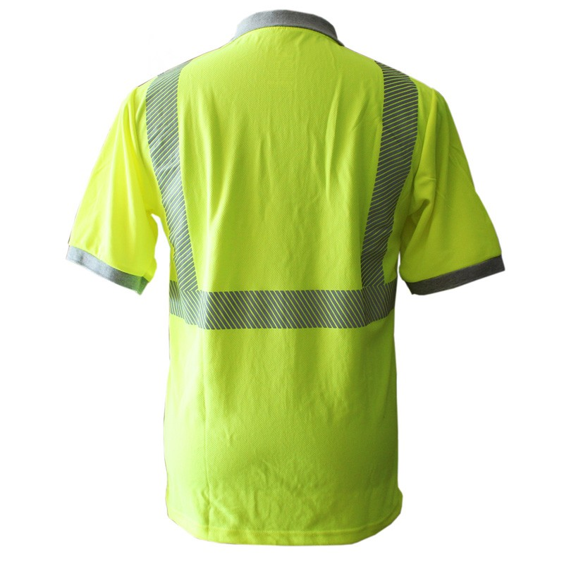 New Design High Quality Men's Custom Reflective Safety Clothing Polo Shirt