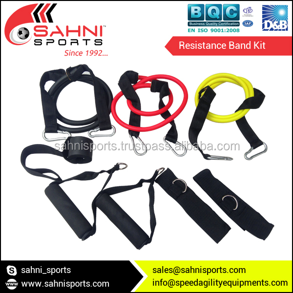 High Quality Resistance Band Kit with 3 Levels Resistance Tubes with Soft Cushion Effect