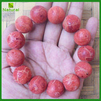 Genuine Natural Sponge Red Coral Beads