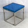 Broken mirror with clear resin side table. Blue fantasy collection