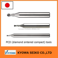 Highly accurate small-diameter diamond blade end mill for CFRP