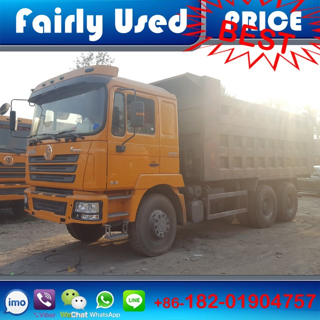 Left hand drive used 340hp diesel engine manual Shacman F3000 6x4 tipper truck