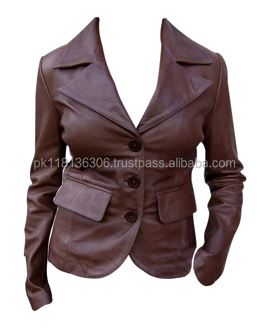 Women Top Brand 2015 high fashion real leather clothing newly leather jackets