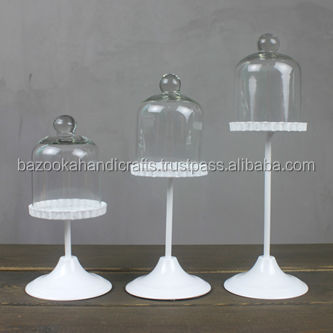 Cupcake Stand, Metal Cupcake Stand With Cover , White Cupcake Holder